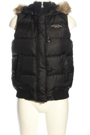 Ralph Lauren Puchowa kamizelka czarny Pikowany wzór W stylu casual