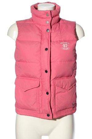 Ralph Lauren Daunenweste pink Steppmuster Casual-Look