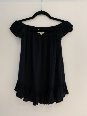 Denim & Supply Ralph Lauren Carmen blouse zwart Katoen