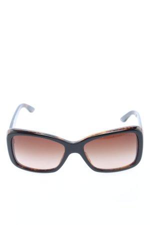 Ralph Lauren eckige Sonnenbrille braun-schwarz Casual-Look