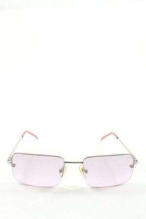 Ralph Lauren eckige Sonnenbrille silberfarben Casual-Look