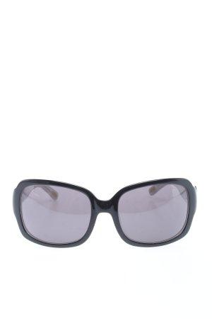 Ralph Lauren Occhiale da sole spigoloso nero-grigio chiaro stile casual