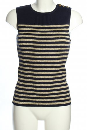 Ralph Lauren Fine Knitted Cardigan black-gold-colored striped pattern