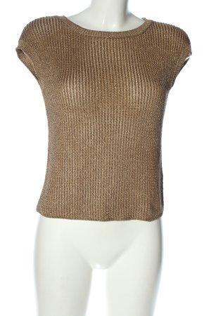 Ralph Lauren Cardigan en maille fine brun style décontracté