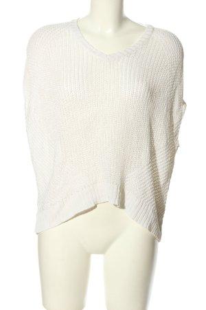 Ralph Lauren Sweter bez rękawów z cienkiej dzianiny w kolorze białej wełny