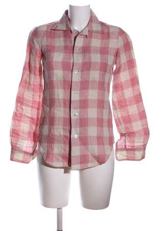 Ralph Lauren Flanellhemd pink-creme Karomuster Casual-Look