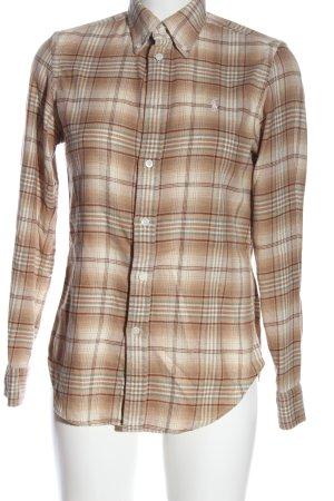 Ralph Lauren Flannel Shirt brown-white allover print casual look