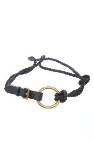Ralph Lauren Cinturón trenzado negro look casual
