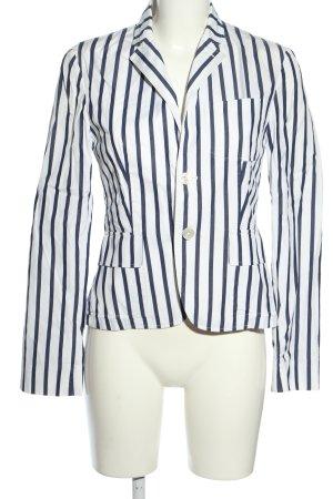 Ralph Lauren Klassischer Blazer weiß-blau Streifenmuster Business-Look