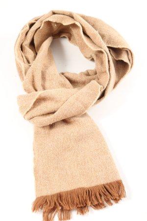 Ralph Lauren Bufanda de flecos marrón-blanco puro estampado a rayas look casual