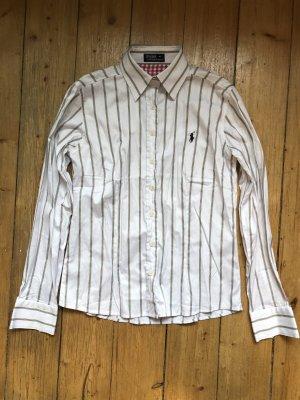 Ralph Lauren Gestreiftes Hemd Bluse Office Business-Look Gr.M leicht taliert