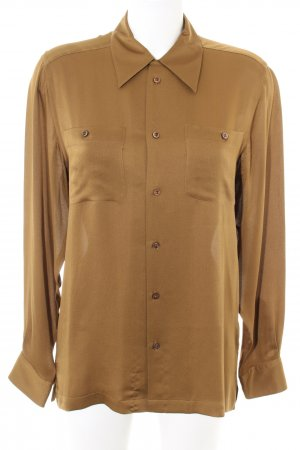 Ralph Lauren Glanzende blouse goud Zijde