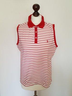 Ralph Lauren Top polo biały-czerwony