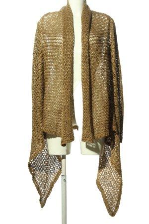 Ralph Lauren Cardigan en crochet brun style décontracté