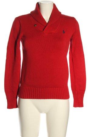 Ralph Lauren Sweter z grubej dzianiny czerwony W stylu casual
