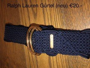 Ralph Lauren Cinturón trenzado azul oscuro-color oro