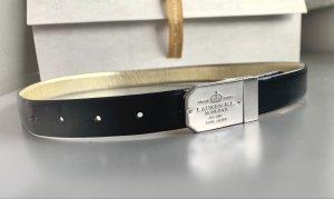 Lauren by Ralph Lauren Cintura fianchi nero-argento Pelle