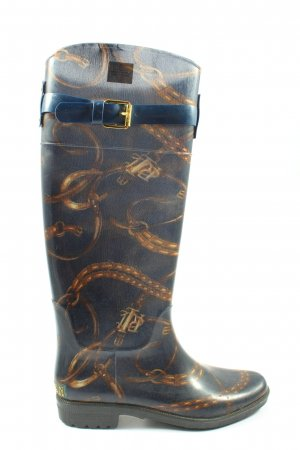 Ralph Lauren Gumowe buty niebieski-brązowy Nadruk z motywem W stylu casual