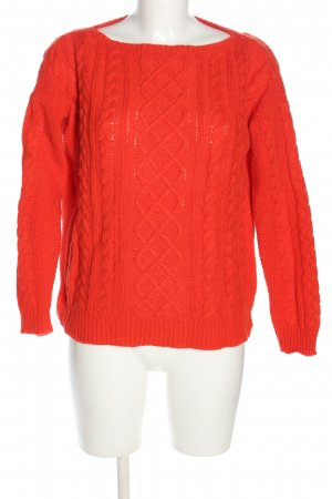 Ralph Lauren Crochet Sweater red cable stitch casual look