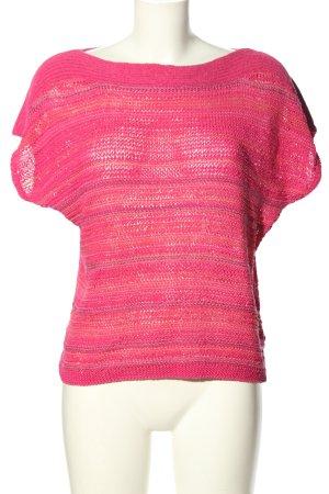 Ralph Lauren Camicetta all'uncinetto rosa-lilla motivo a righe stile casual
