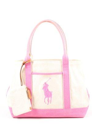 Ralph Lauren Handtasche wollweiß-pink Casual-Look