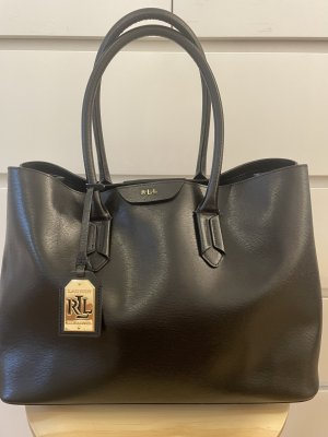Ralph Lauren Handtasche Leder schwarz