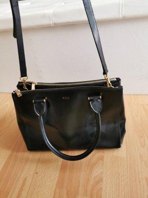 Ralph Lauren Handtasche schwarz lack