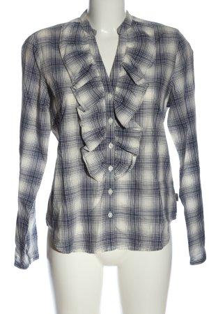 Ralph Lauren Shirt Blouse blue-natural white check pattern casual look