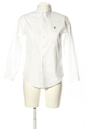 Ralph Lauren Camicia blusa bianco caratteri ricamati stile casual