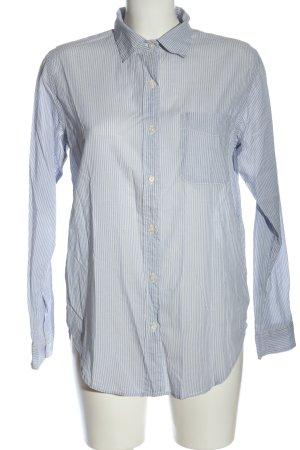 Ralph Lauren Shirt Blouse blue-white striped pattern business style