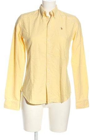 Ralph Lauren Blouse-chemisier jaune primevère lettrage brodé