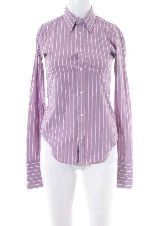 Ralph Lauren Hemd-Bluse blasslila-weiß Streifenmuster Casual-Look