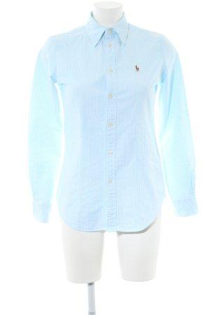Ralph Lauren Hemd-Bluse blau-weiß Streifenmuster Business-Look
