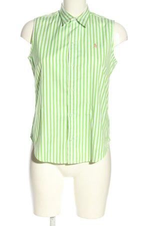 Ralph Lauren Hemd-Bluse grün-weiß Allover-Druck Casual-Look