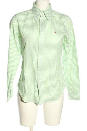 Ralph Lauren Hemd-Bluse grün-weiß Streifenmuster Business-Look