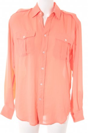 Ralph Lauren Hemd-Bluse neonorange-lachs Business-Look