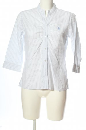 Ralph Lauren Hemd-Bluse weiß-blau Allover-Druck Business-Look