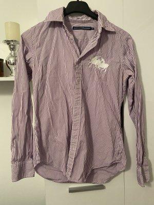 Ralph Lauren Sport Long Sleeve Shirt purple-white
