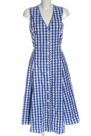 Ralph Lauren Hemdblousejurk blauw-wit geruite print casual uitstraling