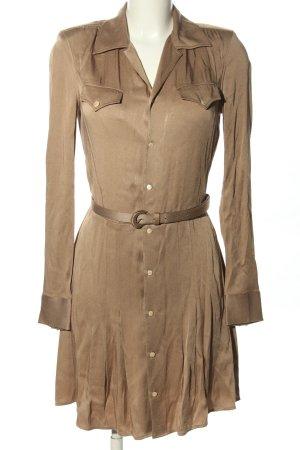 Ralph Lauren Vestido tipo blusón marrón look casual
