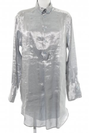 Ralph Lauren Hemdblusenkleid silberfarben Webmuster Casual-Look