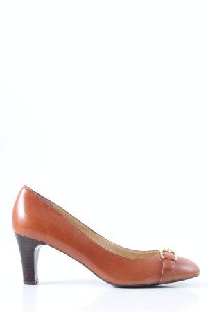 Ralph Lauren Chaussure à talons carrés brun style décontracté
