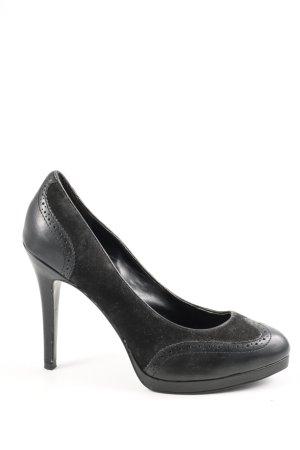 Ralph Lauren Chaussure à talons carrés noir style décontracté