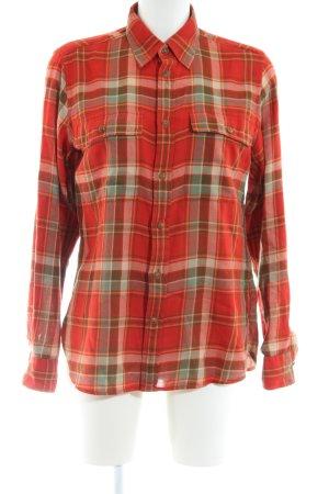 Ralph Lauren Holzfällerhemd rot-khaki Karomuster Casual-Look