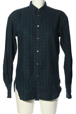 Ralph Lauren Holzfällerhemd grün-blau Allover-Druck Casual-Look