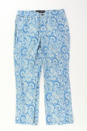 Ralph Lauren Trousers blue-neon blue-dark blue-azure cotton