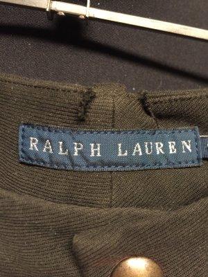 Ralph Lauren Pantalon d'équitation vert foncé-brun coton
