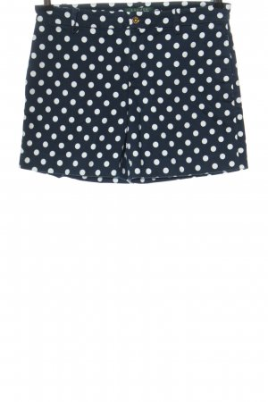 Ralph Lauren Hot Pants blau-weiß Punktemuster Casual-Look