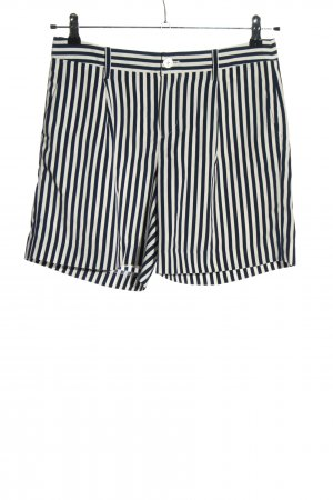 Ralph Lauren Hot pants bianco-nero motivo a righe stile casual