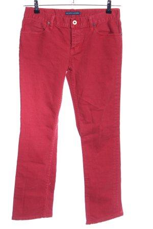 Ralph Lauren Jeans taille basse rouge style décontracté